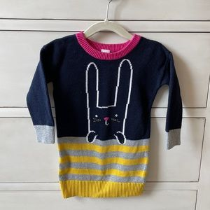 Baby Gap Bunny Rabbit Sweater Dress Tunic